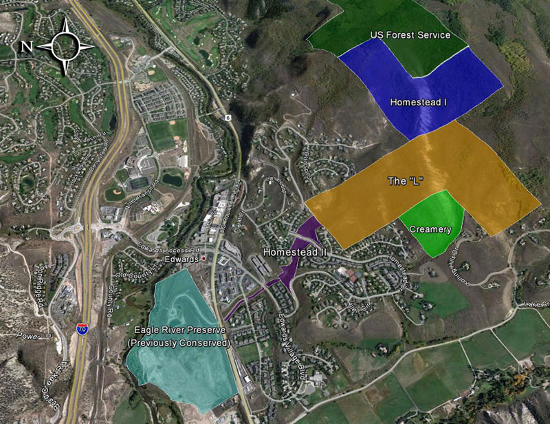 HOMESTEAD CONSERVATION AND PUBLIC RECREATION PROJECT MAP